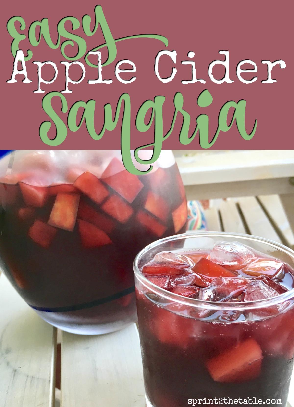 Easy Apple Cider Sangria Recipe