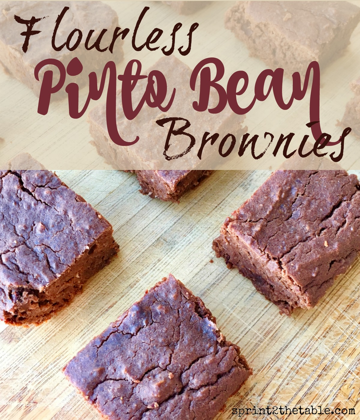 These Flourless Pinto Bean Brownies are gluten-free, sugar-free, and dairy-free. And they're so good they'll fool your whole family!