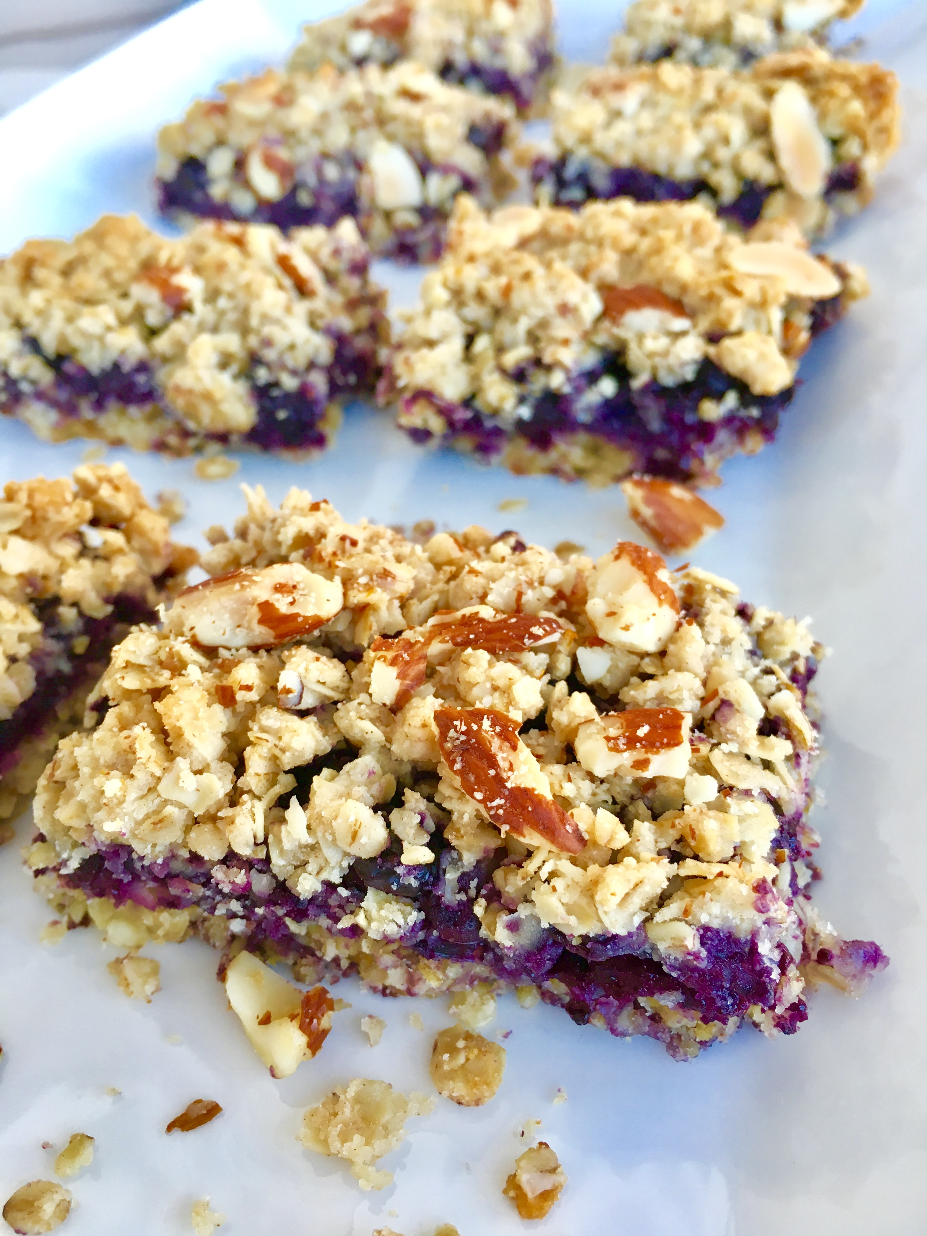 Healthy Wild Blueberry Crumble Bars