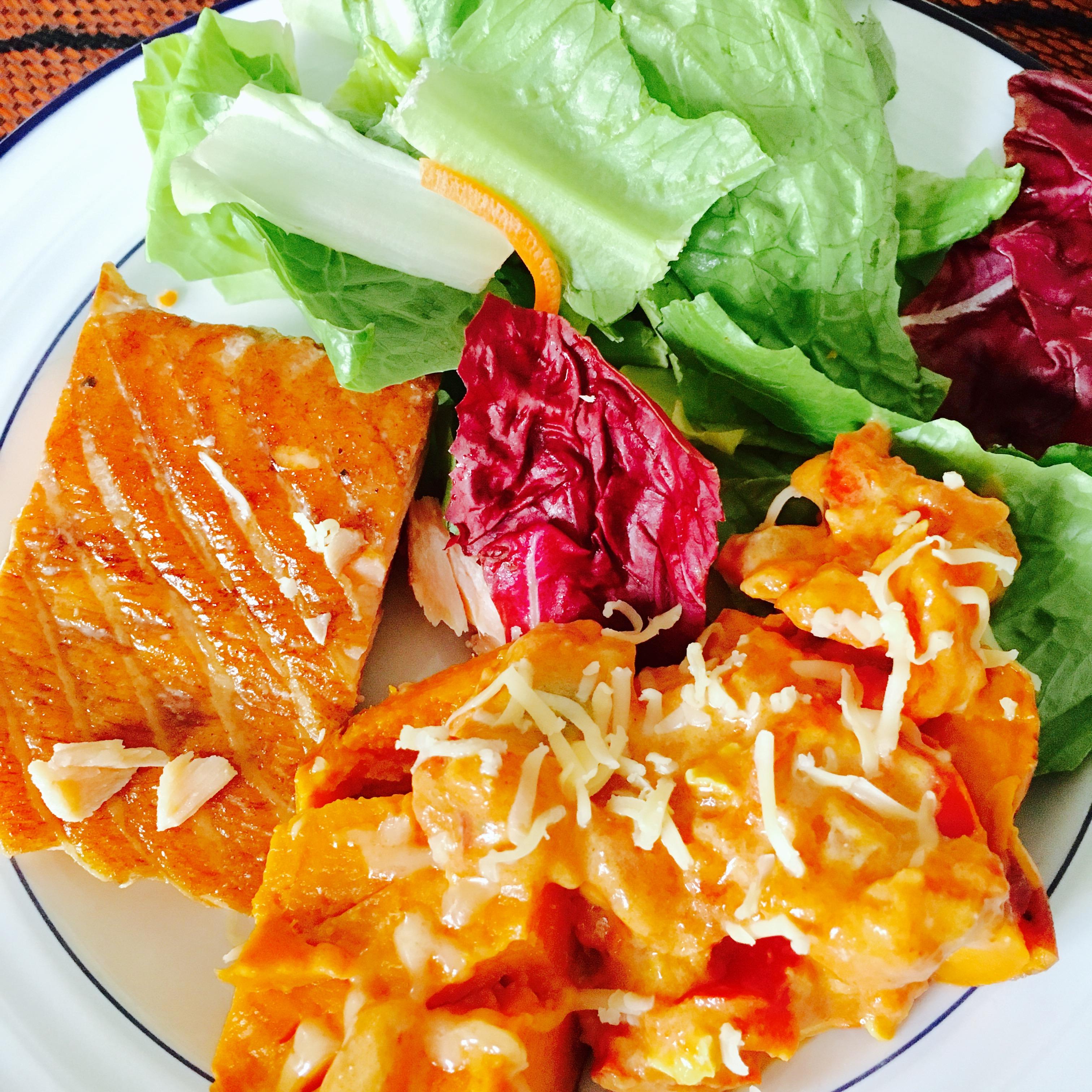 Salmon and sweet potato