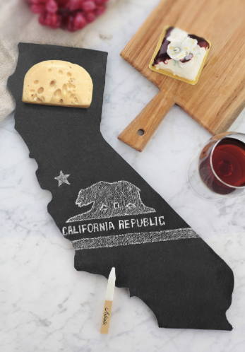 State of California Slate Cheese Board