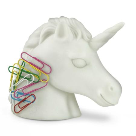 Unicorn paperclip holder