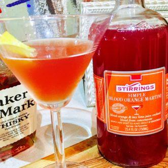 Smoked Blood Orange Manhattan