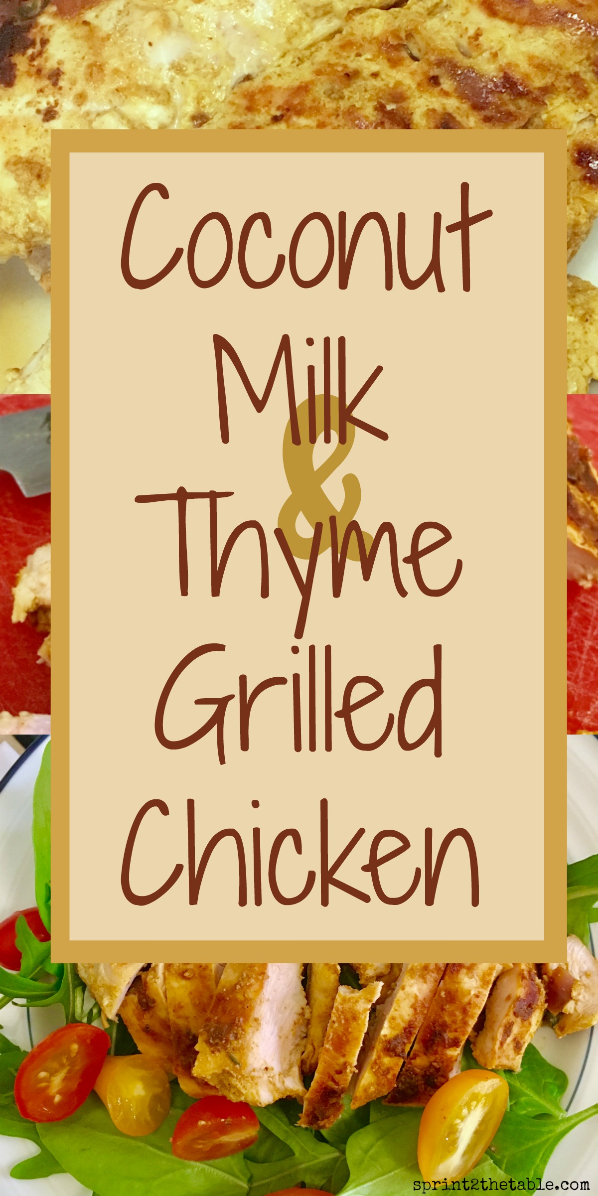 This Coconut Milk & Thyme Grilled Chicken recipe is a delicious and easy to make, healthy dinner! The chicken is marinated in thyme-infused coconut milk, garlic, and warm spices.