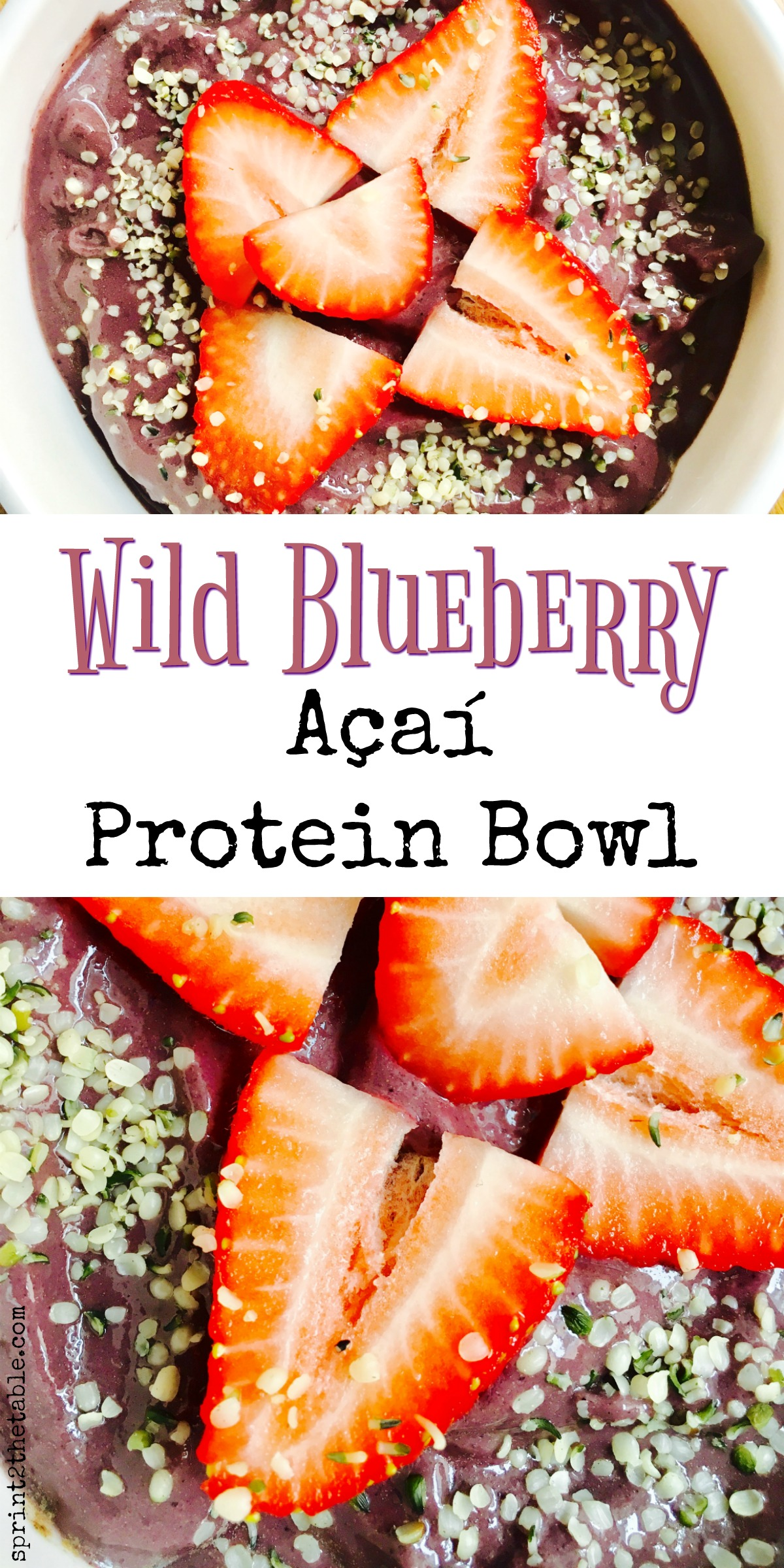 This homemade açaí bowl is packed with nutrients from wild blueberries, açaí, and protein. Enjoy one as a cool down post-workout, or as a healthy afternoon snack!