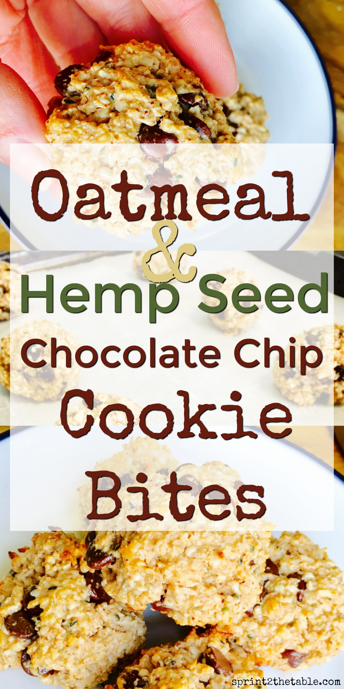 These Oatmeal Hemp Seed Cookie Bites are a delicious marriage of chocolate chip oatmeal cookies and coconut macaroons. Best of all, they're packed with nutrient-rich ingredients like oats, dark chocolate, and hemp seed.