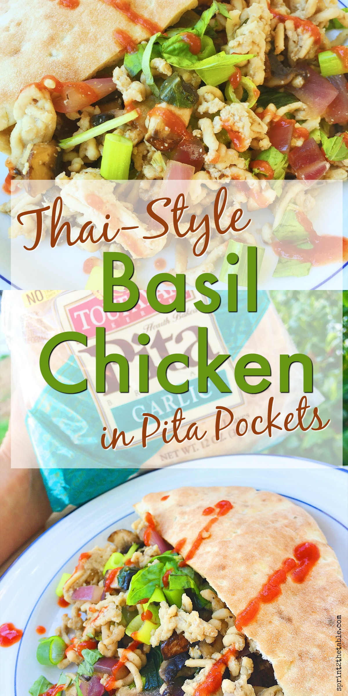 This crave-worthy Thai-Style Basil Chicken is made with lean ground meat, basil leaves, and veggies. It's a quick, heathy dinner that's full of flavor!