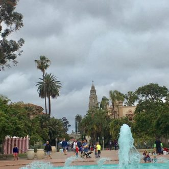 Balboa Park, just before the rain