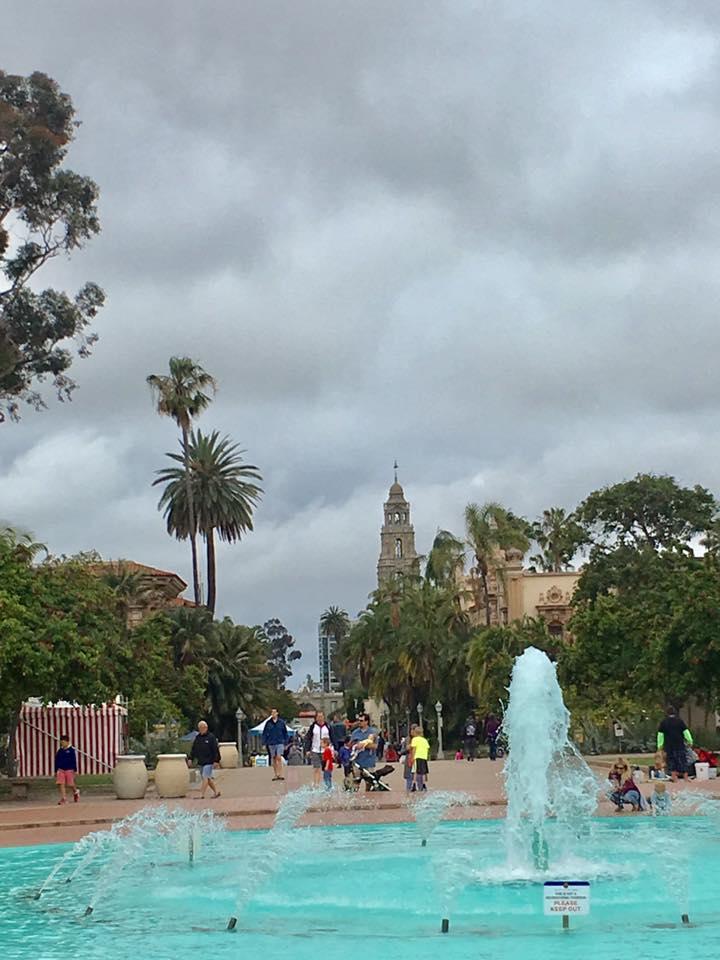 Balboa Park, just before the rain