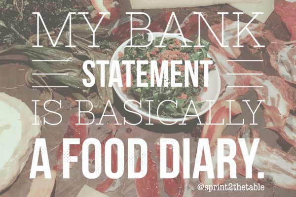 My bank statement is a food diary [WIAW]