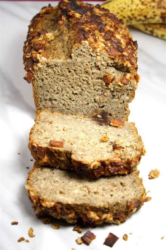Date Sweetened Banana Bread with Candied Bacon