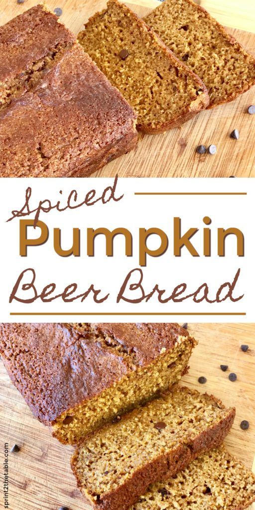 This Spiced Pumpkin Beer Bread is an incredibly easy homemade bread. No yeast. No rise time. No kneading. A warm slice is perfect on a cool fall morning!