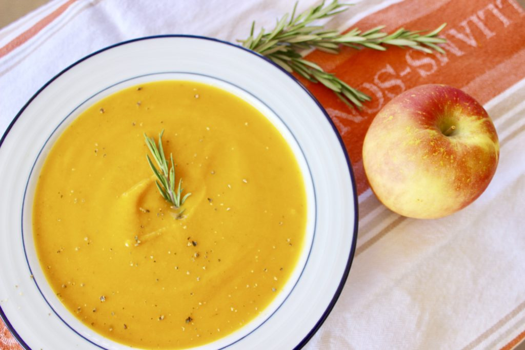 I've been making this Butternut Squash & Apple Soup with Rosemary every fall for 6 years now! Try it with a crisp white wine or cider for a cozy dinner.