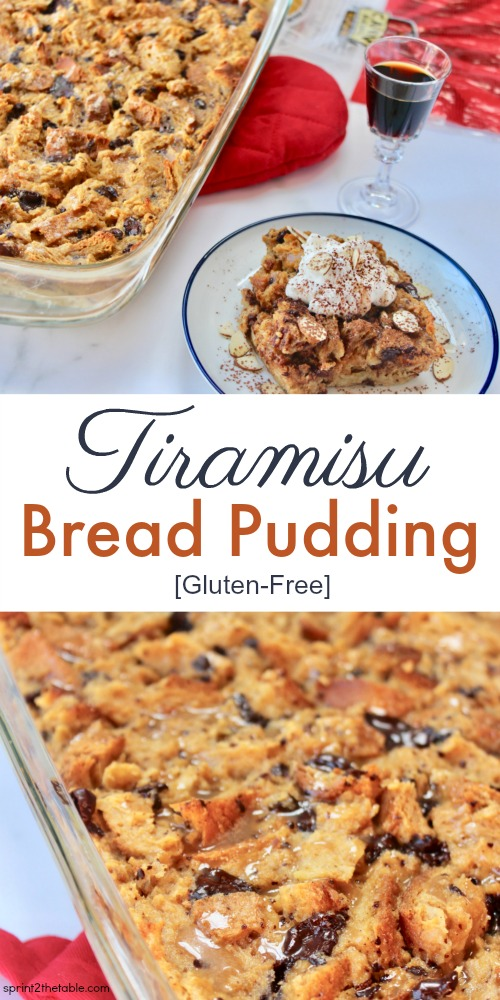 ThisTiramisu Bread Pudding (gluten-free!) is the perfect after-dinner dish for a crowd. It's a simple-yet-rich dessert reminiscent of it's more complicated tiramisu sibling.It's one of those recipes you'll to come back to again and again.